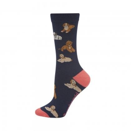 Ladies Cavoodle Bamboo Socks 2-8