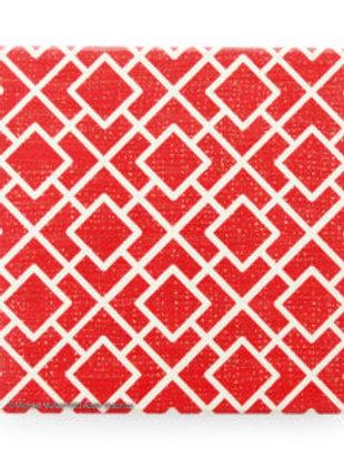 Thirsty Stone Coaster - Red Lattice