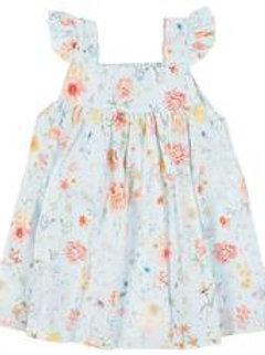 Toshi Baby Dress Secret Garden - Sky