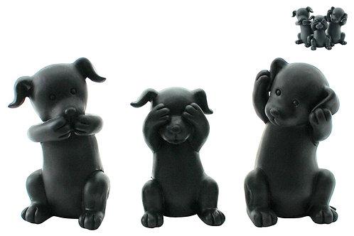 Set Hear/See/Speak Evil Miniature Puppies