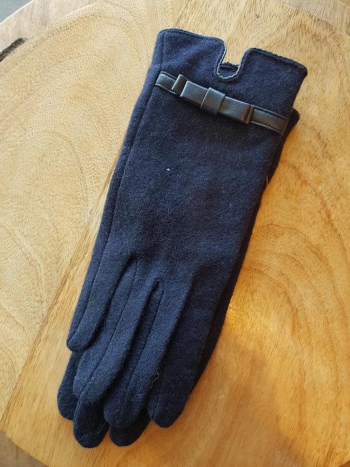 Wool Gloves - Navy