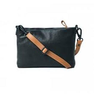 CLEARANCE Leather Elizabeth Sling Bag - Black