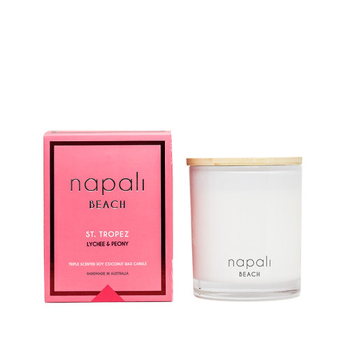 Napali Candle 160g - St Tropez - Peony and Lychee