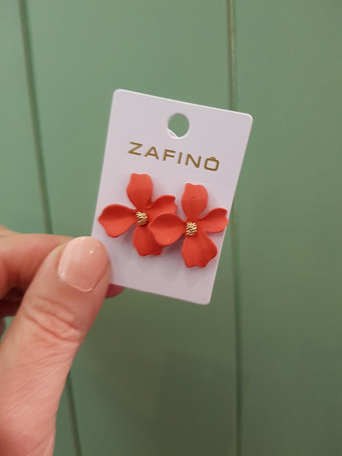 Small Orchid Earrings - Coral