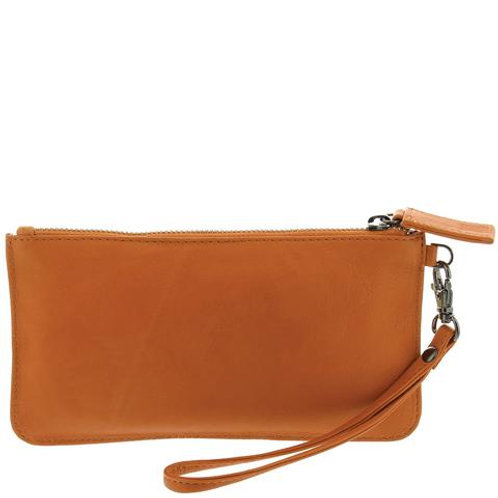 CLEARANCE Leather Mercer Pouch - Orange