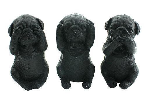 Set Hear/See/Speak Evil Miniature Dogs