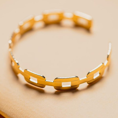 Chain Link Cuff - Gold