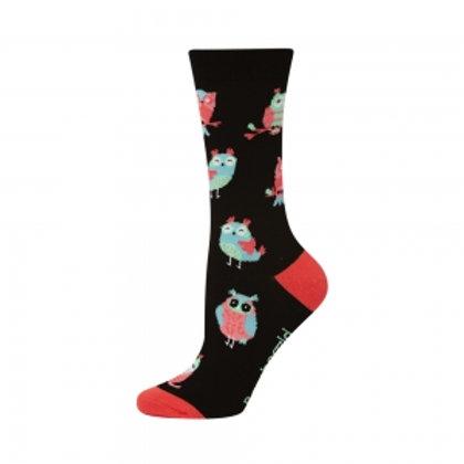 Ladies What a Hoot Bamboo Socks 2-8