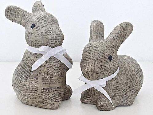 Newspaper Bunny