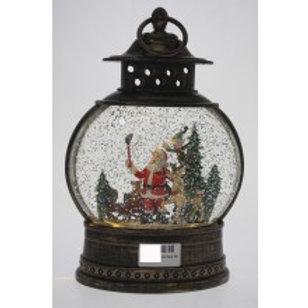 Christmas Lantern - Round Santa Sleigh