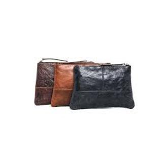 CLEARANCE Leather Stephanie Pouch