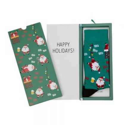 Mens Ho Ho Bamboo Sock Card 7-11