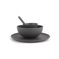 Love Mae Mini Dinnerware Set - Charcoal