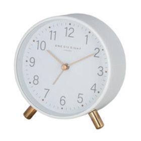 Maisie Silent Alarm Clock - White