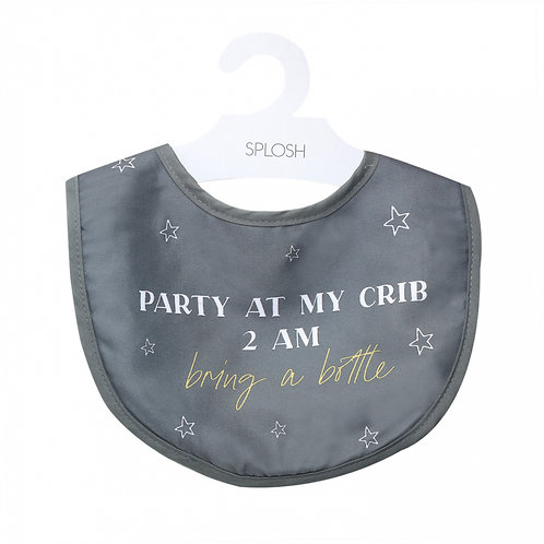 CLEARANCE Baby Bib - Party at my crib 2am, bring a bottle