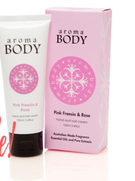 Aromabotanical Hand Cream 100ml - Pink Freesia & Rose