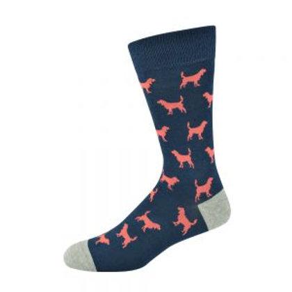 Mens Ditsy Dog Bamboo Socks 7-11