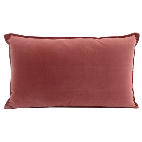 Velvet Oblong Cushion - Mulberry