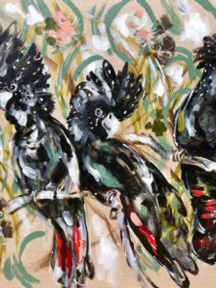 Thirsty Stone Coaster - Black Cockatoo