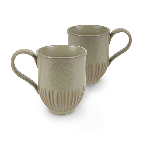 Robert Gordon Crafted Mug 2 Pk - Olive