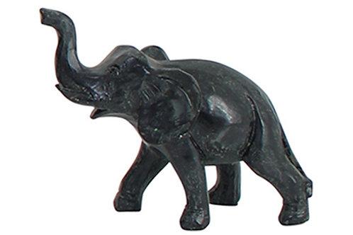 Stampy Elephant Black 10x6x7