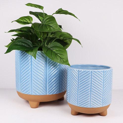 Zari Planter 14cm - Light Blue