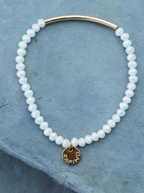 Crystal Bracelet with Gold Bar