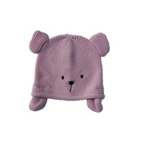 Teddy Knitted Hat - Pink