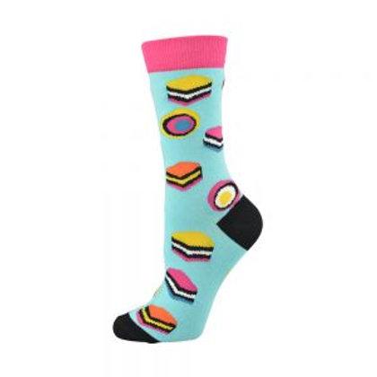 Ladies Licorice Allsorts Bamboo Socks 2-8
