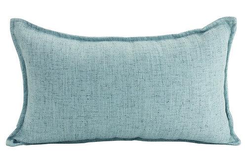 Oblong Linen Cushion - Light Blue