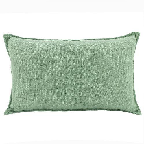 Oblong Linen Cushion - Mist