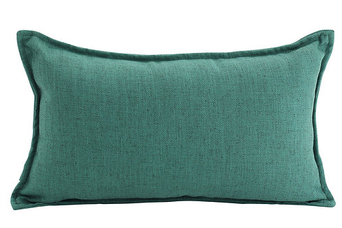 Oblong Linen Cushion - Green