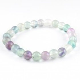 Crystal Bracelet - Rainbow Flourite