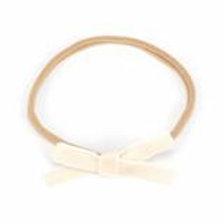 CLEARANCE Petite Velvet Baby Bow - White