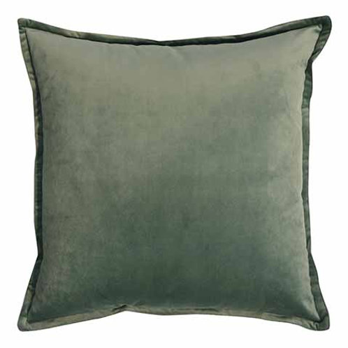 Mira Velvet Cushion - Pistachio
