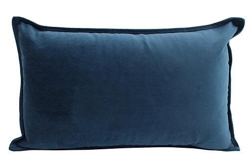 Velvet Oblong Cushion - Ocean