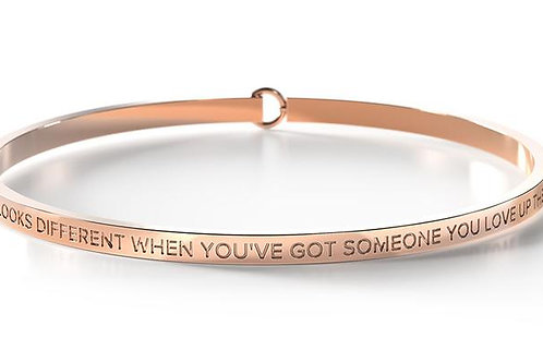 BE Bangle Rose Gold - The sky looks different when you've got someone you love..