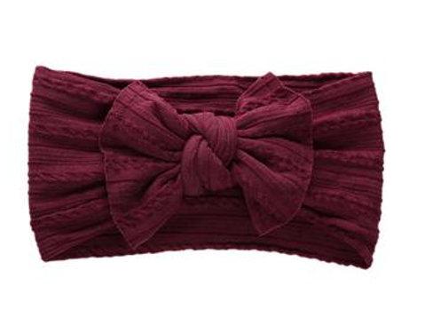 Knotted Headband - Maroon