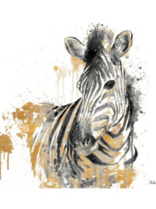Thirsty Stone Coaster - Water Zebra