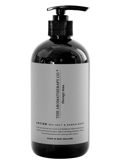 Aromatherapy Co Man Hand and Body Lotion - Sea Salt & Sandalwood