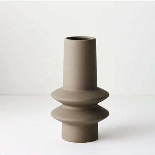 Lucena Vase 21.8cmx12.5cm - Grey