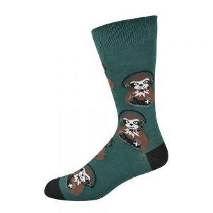 Mens Sloth Gamer Bamboo Socks 7-11