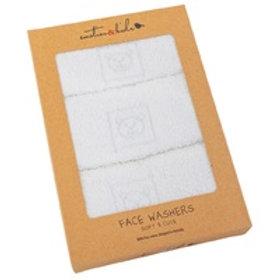Face Washers - White