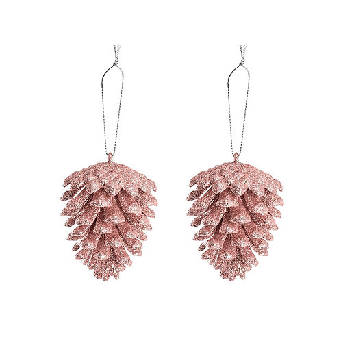 Hanging Pinecone - Pink