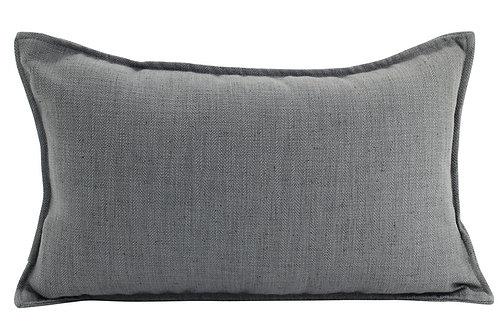 Oblong Linen Cushion - Dark Grey