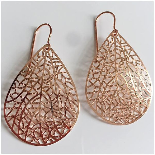 Spotted Giraffe Pears - Rose Gold