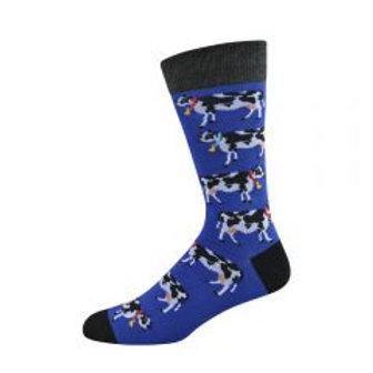 Mens Daisy Cow Bamboo Socks 7-11
