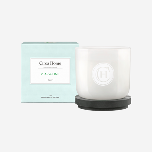 CLEARANCE Circa Home Candle 260g - Pear & Lime