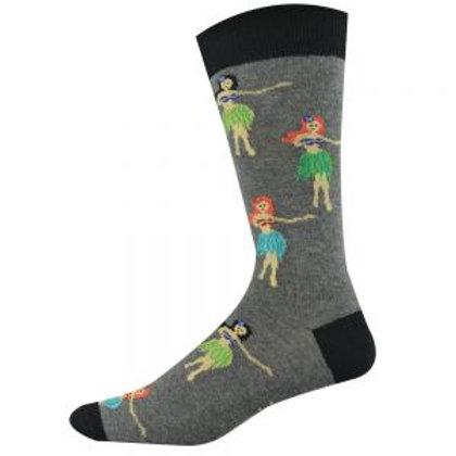 Mens Hula Girl Bamboo Socks 7-11