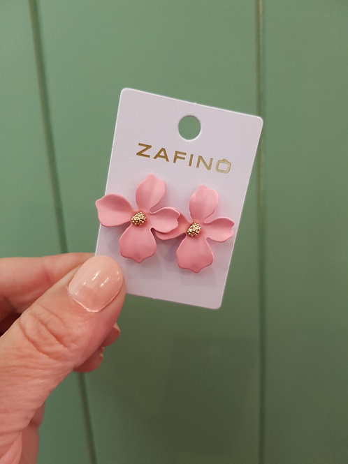 CLEARANCE Small Orchid Earrings - Pink